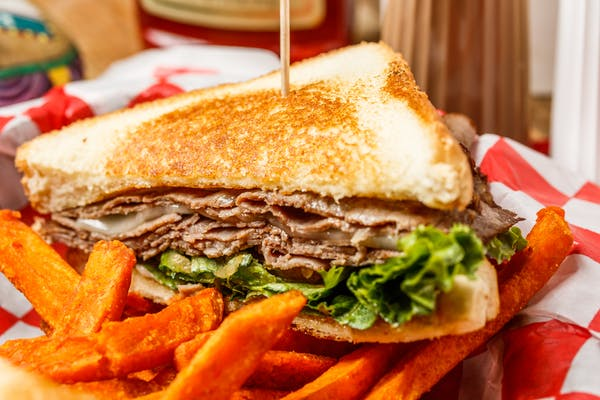 Roast Beef & Provolone Cheese Sandwich