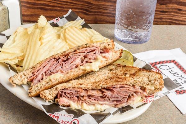 White Kick'n Cheddar & Ham Sandwich