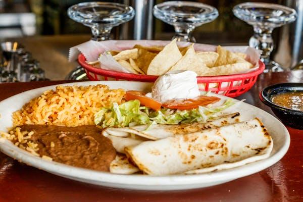 16. Three Quesadillas Plate