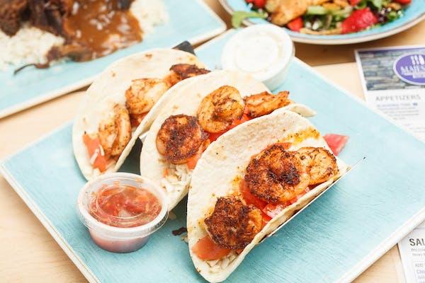 (3) Shrimp Tacos