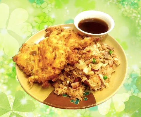 A10. Chicken or Roast Pork Egg Foo Young