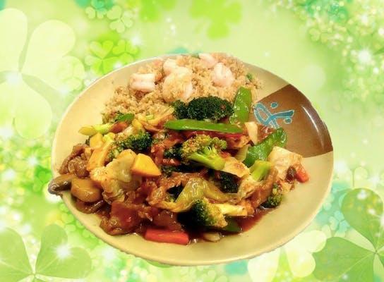 A27. Szechuan Beef or Shrimp
