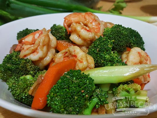 128. Shrimp with Broccoli