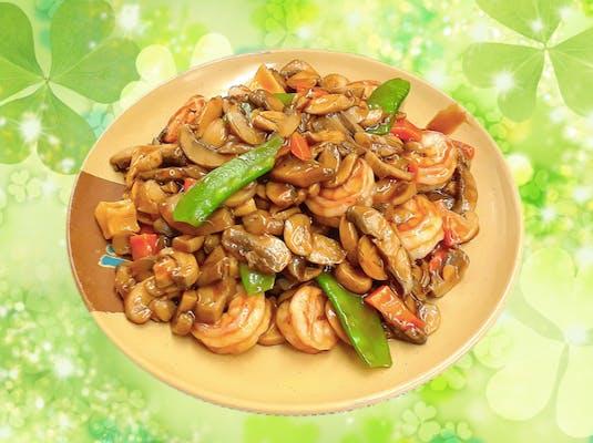 129. Shrimp with Mushrooms