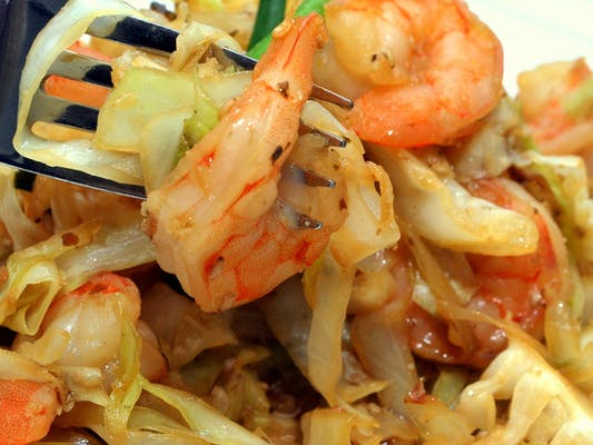 134. Shrimp with Cabbage