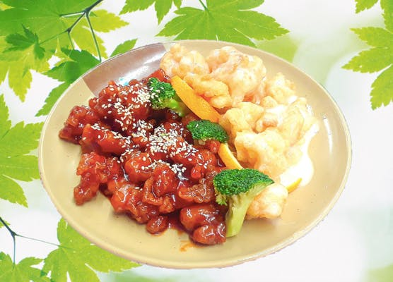 P16. Coconut Shrimp & Sesame Chicken