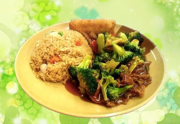C2. Beef or Chicken with Broccoli Combo