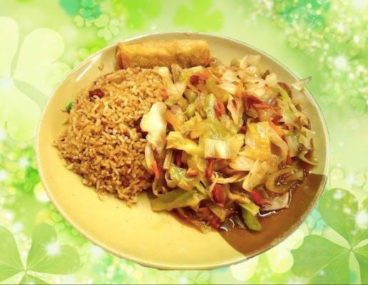C5. Chicken or Roast Pork Chow Mein Combo