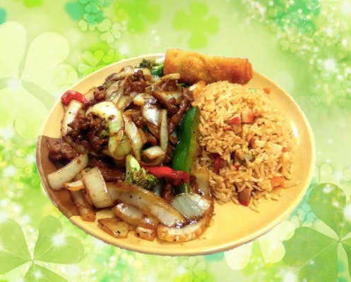 C17. Mongolian Chicken or Beef Combo