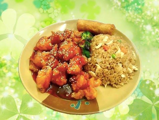 C33. Sesame Shrimp Combo