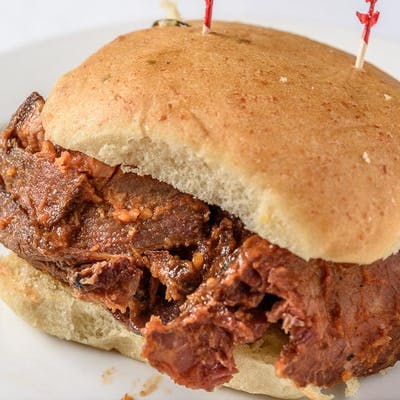 Barbecued Brisket Sandwich