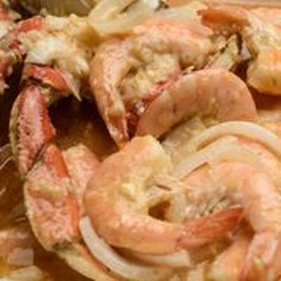 Boiled Shrimp & Dungeness Crab