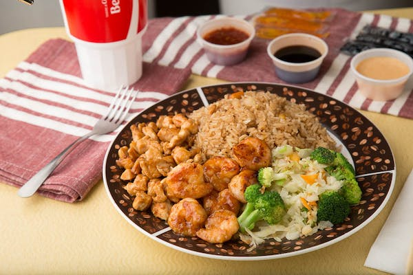 Hibachi Chicken & Shrimp Entrée