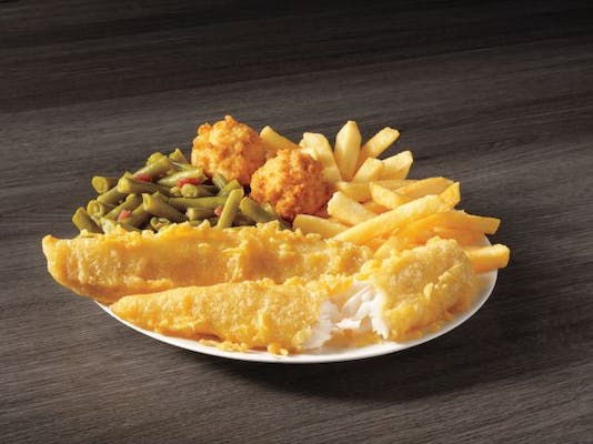 2 Piece Batter Dipped Fish Meal