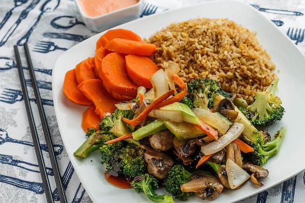Vegetable Hibachi Lunch