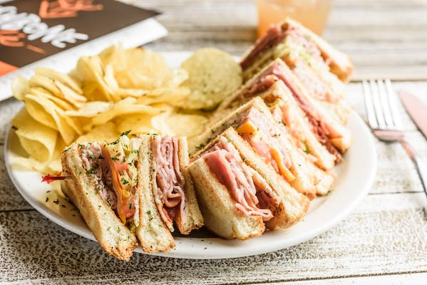 Wishbone Club Sandwich & Chips