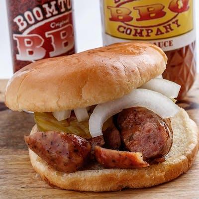 Sliced Sausage Link Sandwich