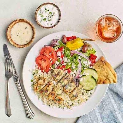 Grilled Chicken Kebobs Feast