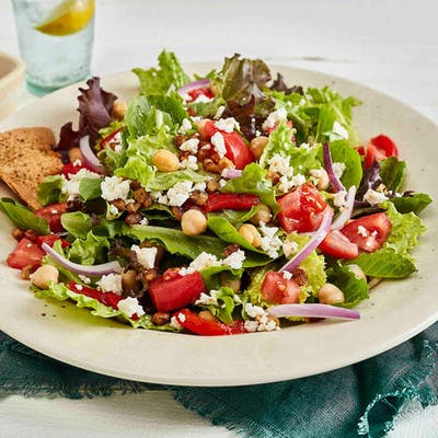 Grilled Shrimp Mediterranean Salad