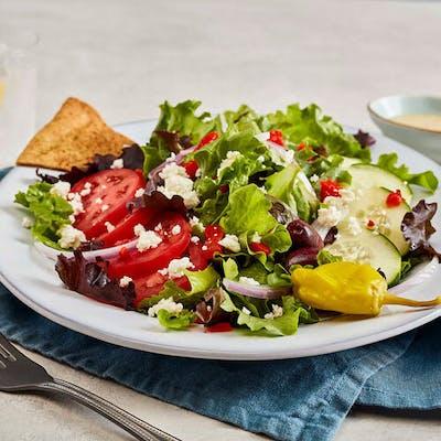 Chicken Kebob Greek Salad