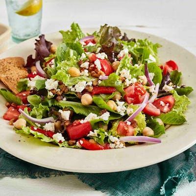 Chicken Kebob Mediterranean Salad