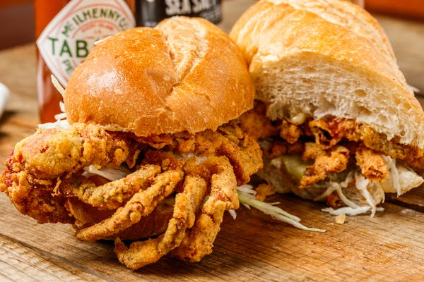 Fried Soft-Shell  Sandwich