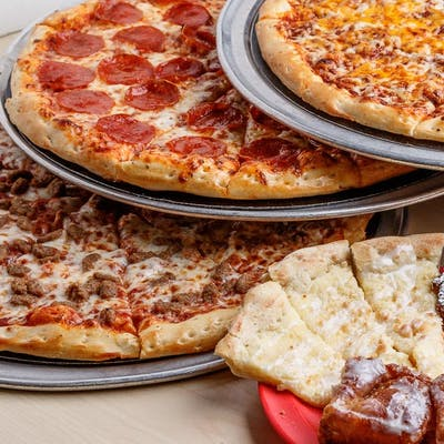 4. Three Large One-Topping Pizzas & Side