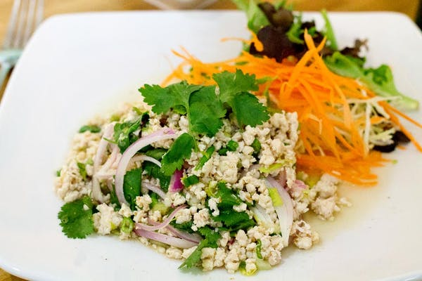 Spicy Ground Chicken Salad (Chicken Larb)