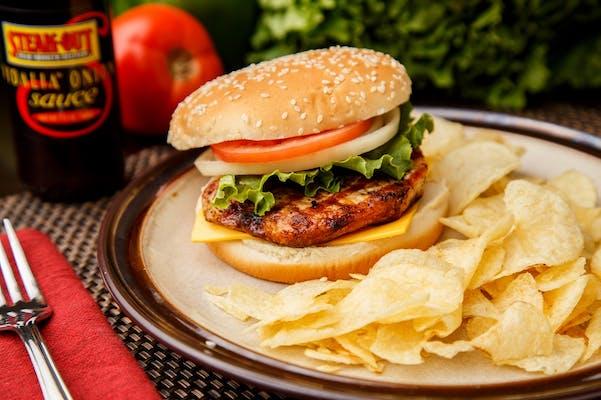 Grilled Pork Chop Sandwich
