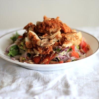 Cold Fried Chicken Salad