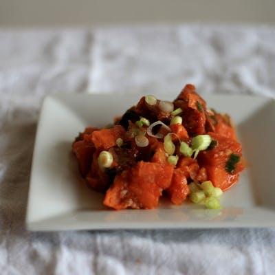 Sweet Potato & Andouille Hash