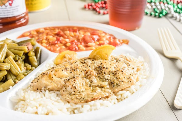Grilled Tilapia & Lemon Butter Sauce