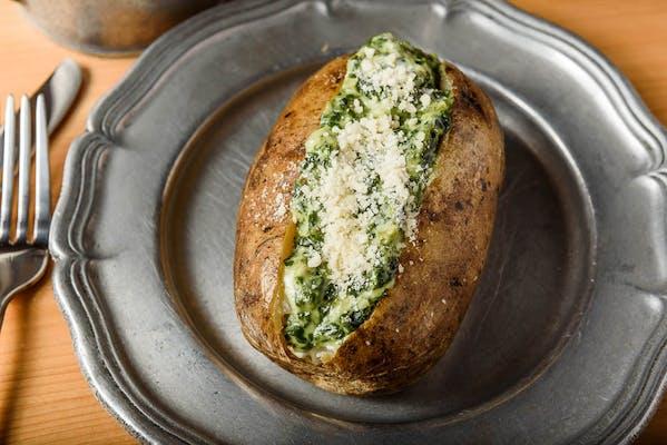 Cheesy Spinach & Artichoke Pat'ato
