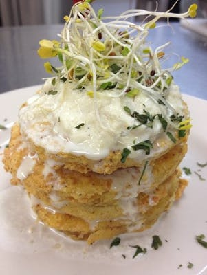 Fried Green Tomatoes & Lump Crab Napoleon