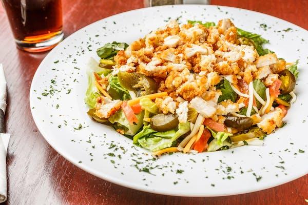 Cajun Fried Chicken Salad