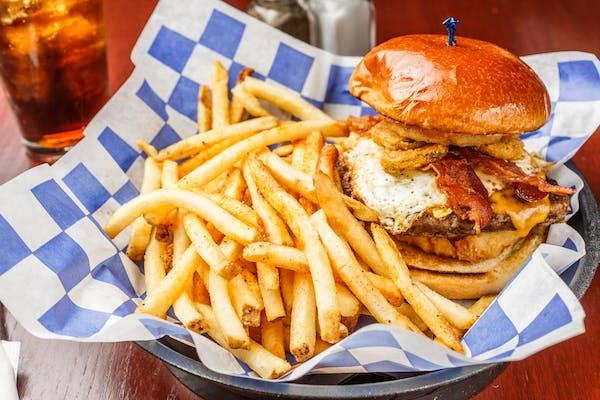 Big Guy Fried Masterpiece Burger