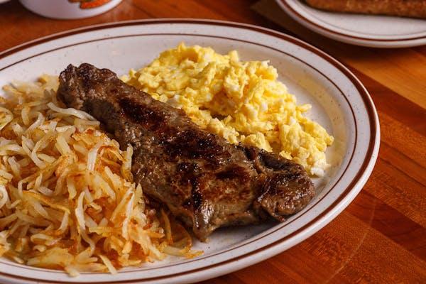 N.Y Strip Steak & Eggs