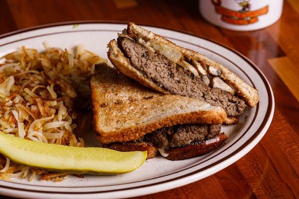 Loc's Breakfast Whopper Sandwich
