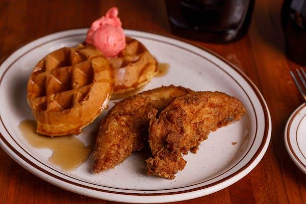 Kid's Chicken Tenders & Waffle
