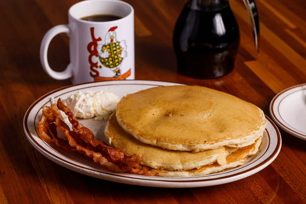 (3) Buttermilk Pancakes with Protein