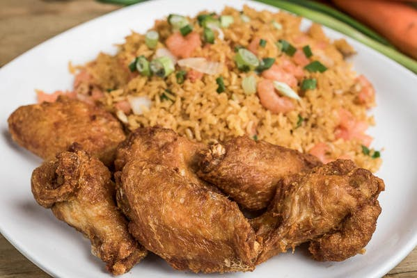 Wings with Fried Rice, Lo Mein, or Vegetables