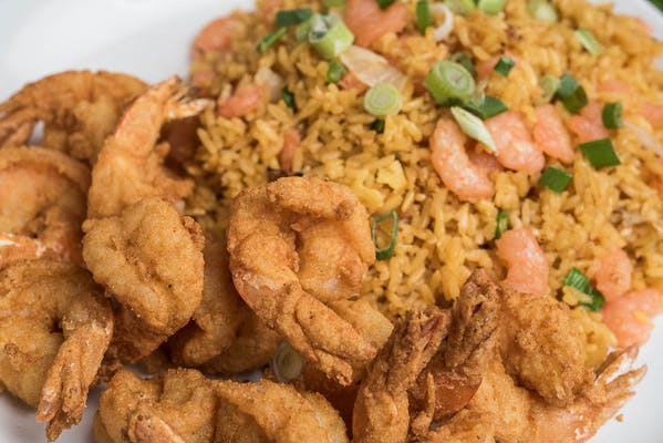 (12 pc.) Medium Fried Shrimp Lunch