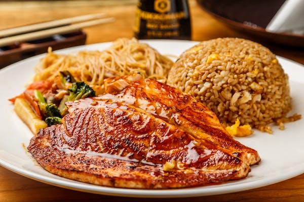 Hibachi Salmon Dinner