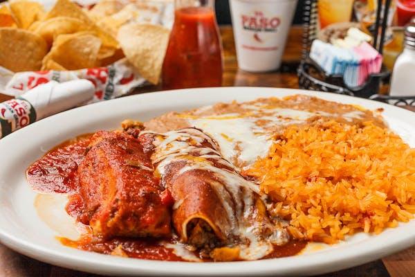 F. Beef Tamale & Beef Enchilada