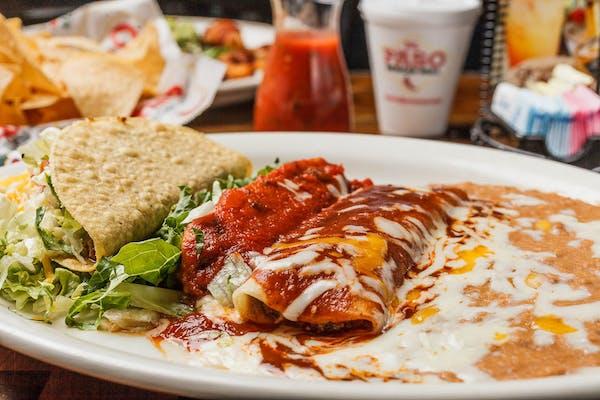 G. Beef Enchilada, Beef Tamale & Beef Taco
