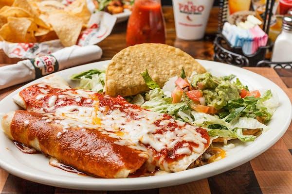 K.  Burrito, Chalupa, Beef Taco & Beef Enchilada