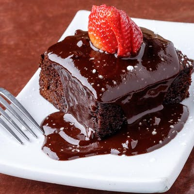 Warm Chocolate Ganache Cake