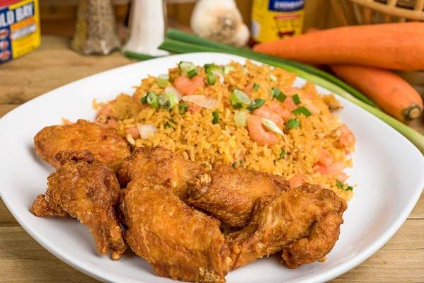 29. Bone-In Wings & Fried Rice
