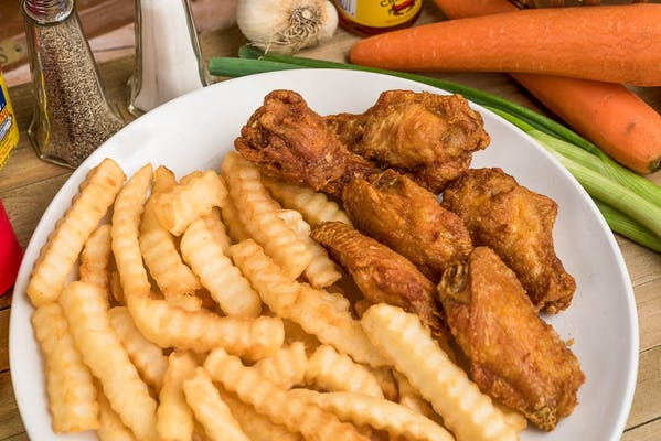 30. Bone-In Wings & French Fries