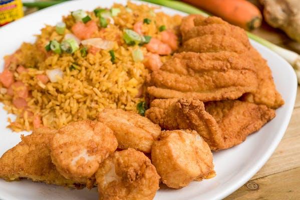 G. Fried Calamari & (2 pc.) Fish